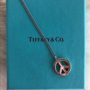 Tiffany & Co. Peace Sign Necklace 16""